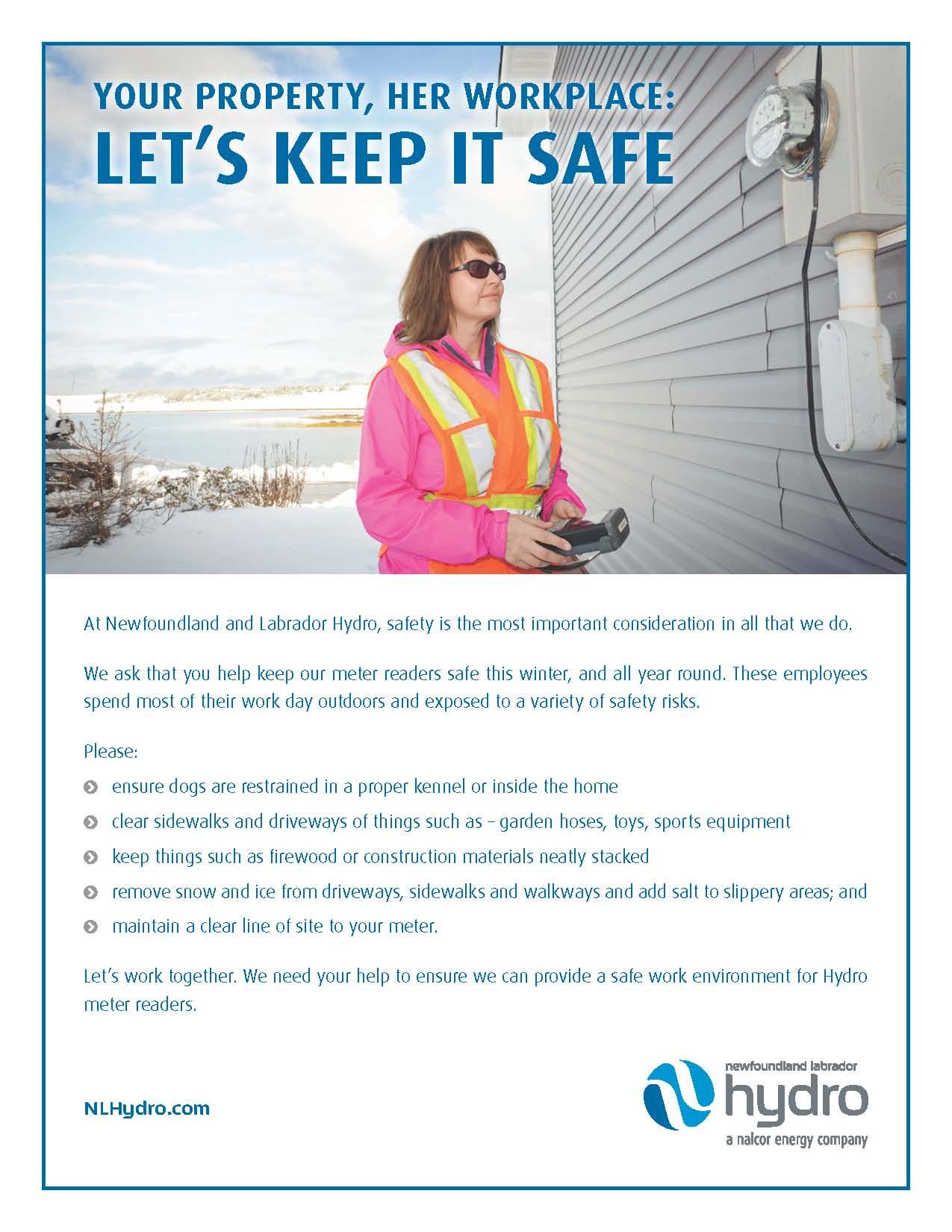 Meter Reading Safety   Newfoundland & Labrador Hydro